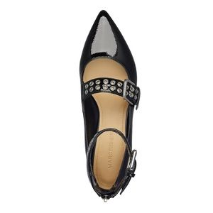 Marc Fisher Alen Mary Jane Flats Patent Black